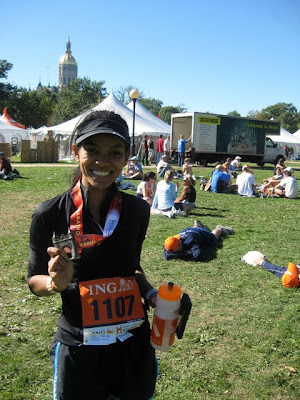 Standing in Bushnell Park with my Medal from the 2010 ING Hartford Marathon