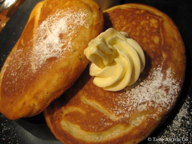 Kaffir Lime Leaf Pancakes with Lemongrass Butter at Kittichai in New York, NY - Photo by Taste As You Go
