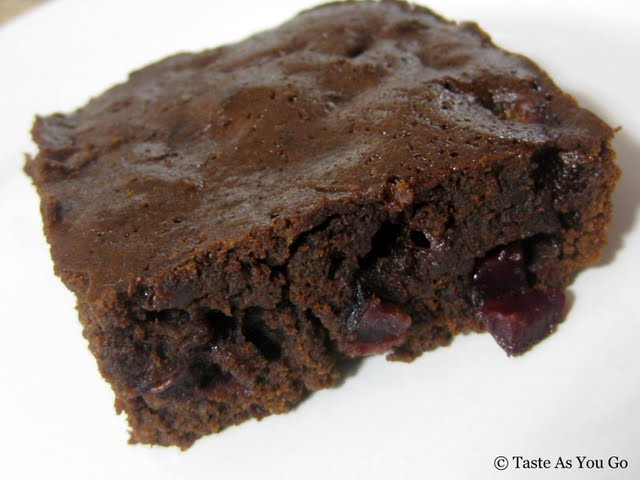 Cherry Fudge Brownie | Taste As You Go