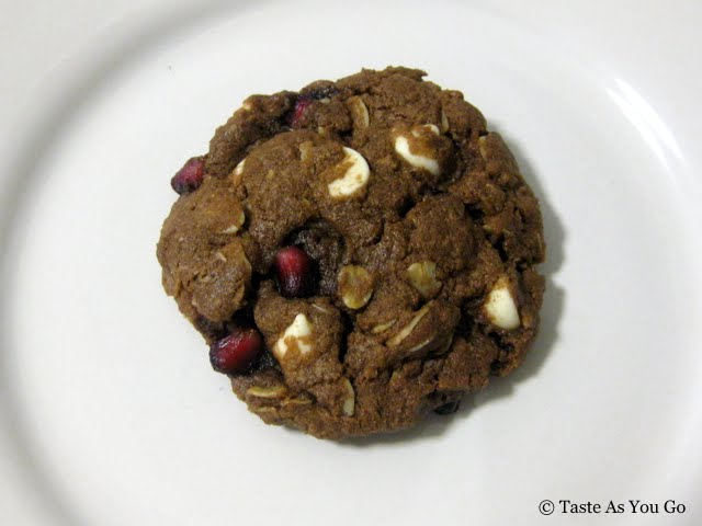 Pomegranate Double Chocolate Chip Cookie | Taste As You Go