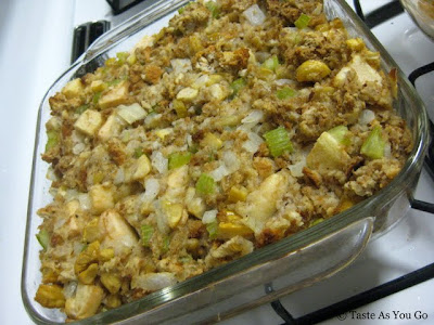 Apple Chestnut Stuffing - Photo by Taste As You Go