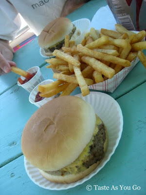 Cheeseburgers and French Fries on the Boardwalk at Spring Lake Beach in Spring Lake, NJ - Photo by Taste As You Go