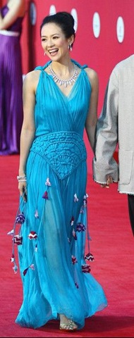 Zhang Ziyi arrive at the red carpet of the first Beijing International Film Festival
