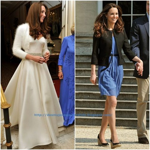 Los vestidos de la boda del Príncipe William y Kate Middleton - Dos ...