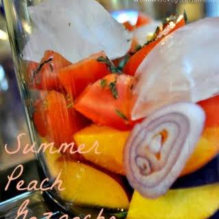Summer Peach Gazpacho.