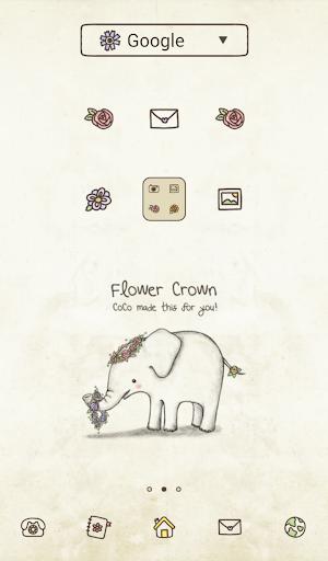 아기코끼리 코코 flower crown 도돌런처 테마