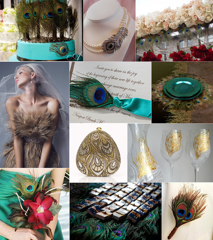 Fabulous Feathers A Golden Glam Pea Wedding