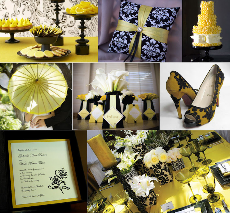 Paper Olive • The Blog: A Wedding In Black And Yellow