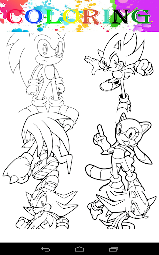 Coloring pages Sonic Apps