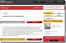 La petizione contro il sito di trasferenza a Scampia