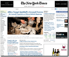 Versione online del New York Times