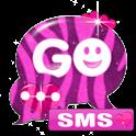 GO SMS Pro Theme Pink Zebra icon