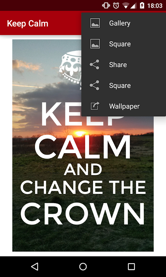 Keep Calm- screenshot