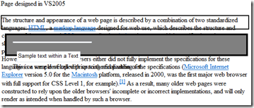 Web-page without fixes in IE7
