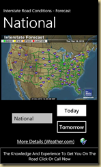 National road conditions map