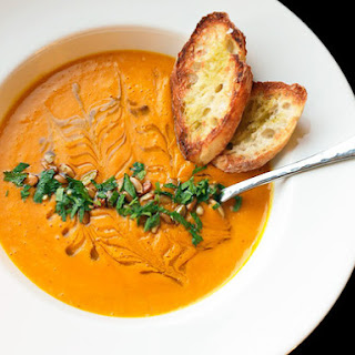 Roasted Squash and Raw Carrot Soup