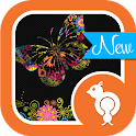 Colorful Butterfly Theme SMS icon
