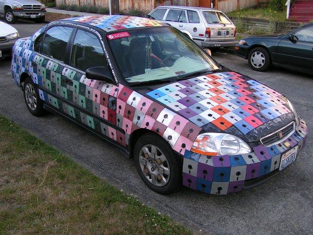 Floppy-Disk Car