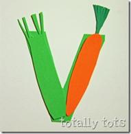 v is for vegetable craft