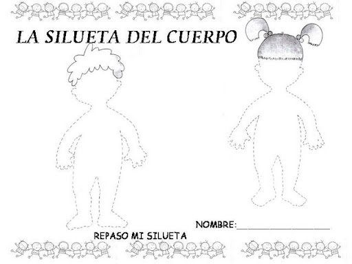 Dibujo De Silueta De Niño Para Colorear Imagui