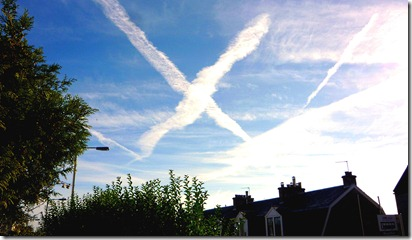 Saltire over Kirkliston