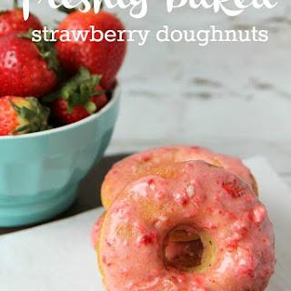 Baked Strawberry Doughnuts Recipe