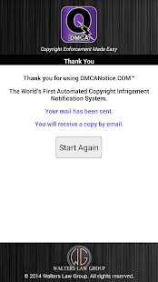 Quick DMCA- screenshot thumbnail