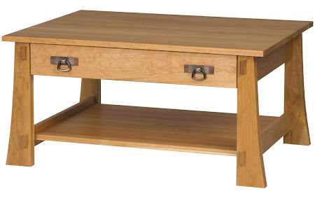 Seville Coffee Table Shown in Natural Cherry, Shown with Drawer