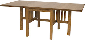 Gateleg Mission dining table