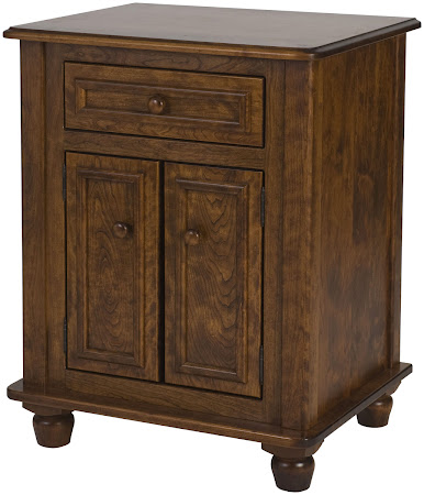 Matching Furniture Piece: Lotus Nightstand with Doors, Antique Cherry