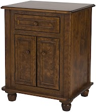 Complementary Style, Lotus Nightstand with Doors