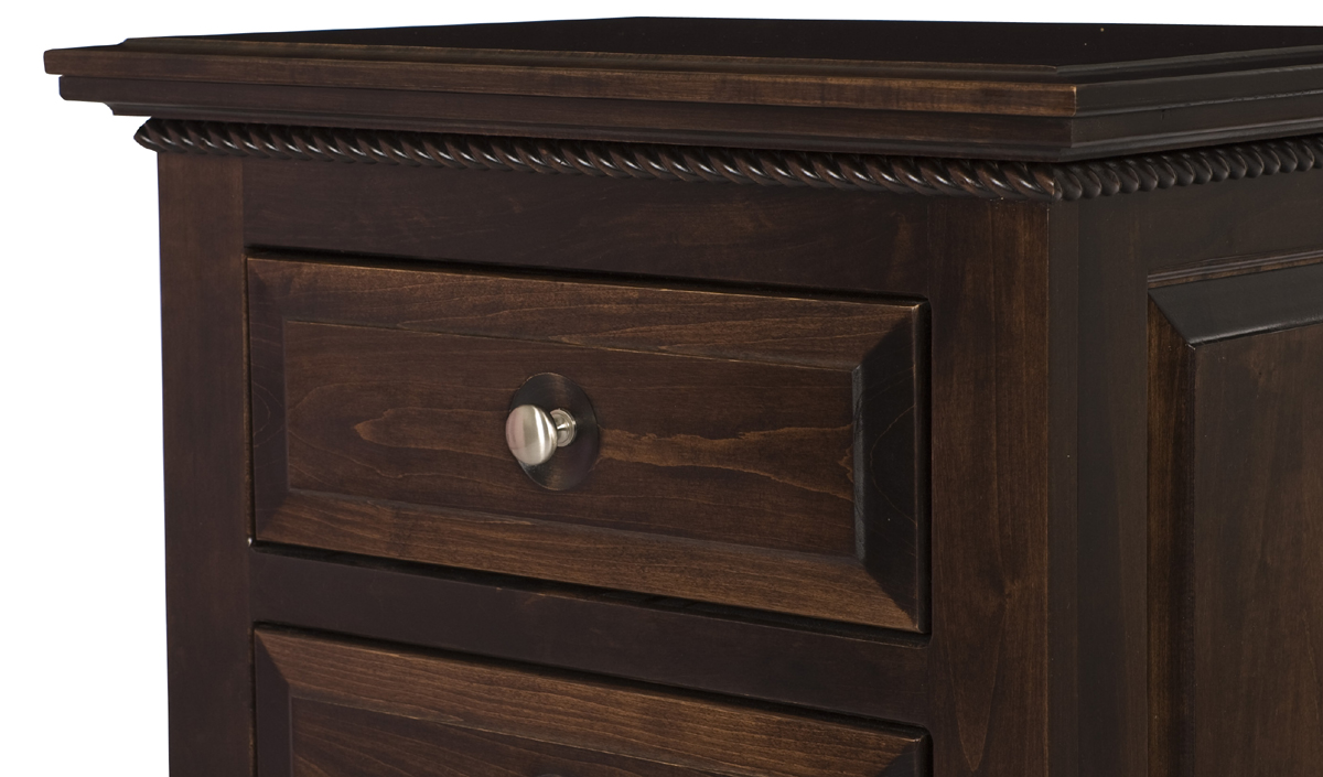 Hudson Nightstand With Drawers Solid Wood Nightstand In