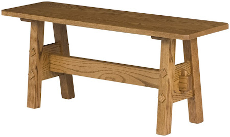 Geneva Bench in Medium Oak