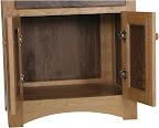Shaker Nightstand (finished rear panel), Cherry & Walnut Hardwood, Natural Finish