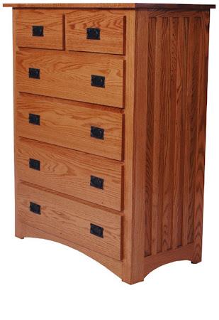 Mission Vertical Dresser in Medium Oak