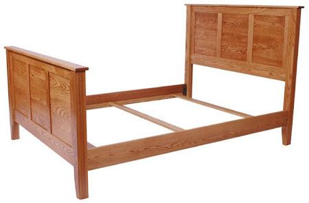 Shaker Bed Frame in Medium Oak