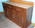 Mission Kitchen Buffet, Walnut and Cherry Hardwood, Natural and Winter Finish