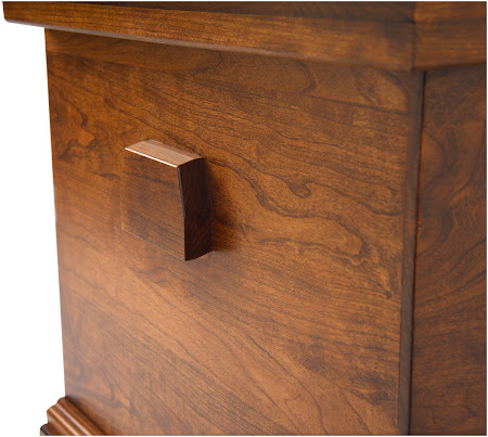 Spring Lotus Chest, Cherry Hardwood, Antique Finish
