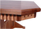 Mixed Wood Dining Table Detail