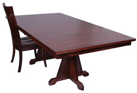"""70"""" x 46"""" Huntington Table, Walnut Hardwood, Winter Finish"""
