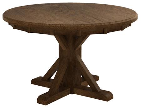 Alexandria Dining Table in Mahogany Oak