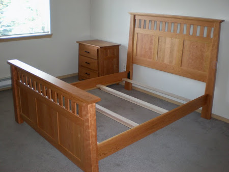 Teton Bed Frame in Oil & Wax Cherry