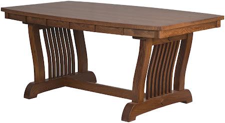 """66"""" x 42"""" Table in Mahogany Oak"""