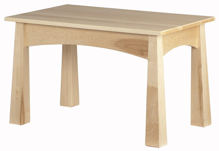 Shaker End Table Shown in Natural Maple