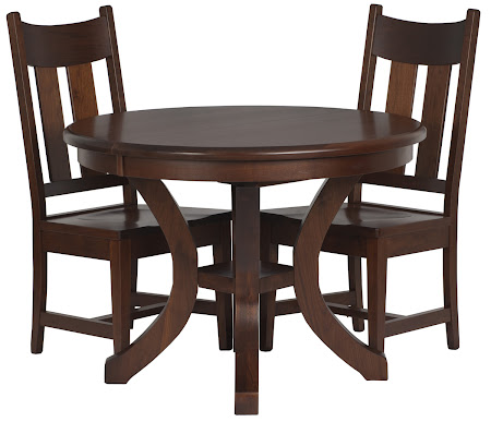 Montrose Round Table and Dining Chairs in Chocolate Cherry