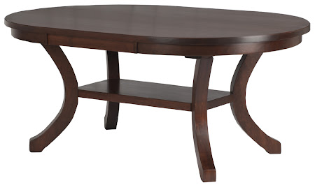 Montrose Dining Table in Chocolate Cherry