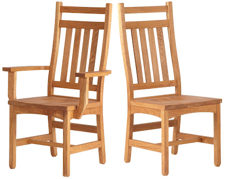 Trestle Dining Chair in Natural Oak