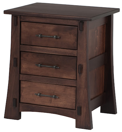 Seville Nightstand with Drawers, in Royal Maple, Custom Hardware