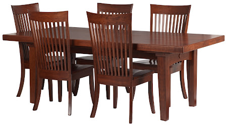 84 x 42 Lancaster Table and Chairs in Chocolate Cherry