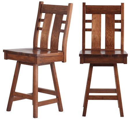 Seneca Swivel Seat Barstool in Calico Hickory